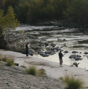 Anglers at the L.A. River